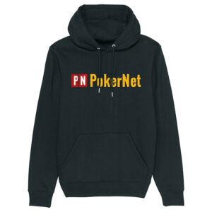PokerNet logo hoodie sort