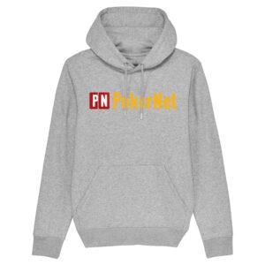 PokerNet Logo Grå Hoodie