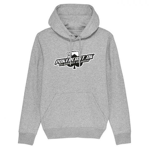 Pokercast grå hoodie